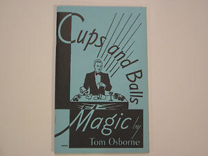 Cups-And-Balls-Magic-Book-by-Tom-Osborne-Routines-Tricks-Sleights-Ideas