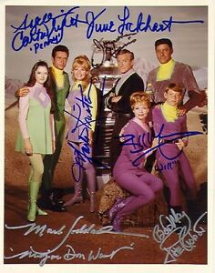 1960S-LOST-IN-SPACE-CAST-AUTOGRAPHED-X7-TV-PHOTO-REPRINT-SIGNED