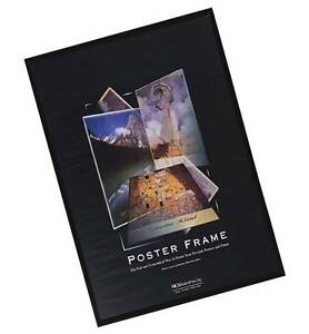 Black-Poster-Frame-Crystal-Clear-Solid-Back-Not-Cardboard-More-Sizes-Available