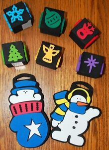 Chunky Stamps Set of 8 Winter Holiday Christmas Snowman Stamps _ 26 Images NEW