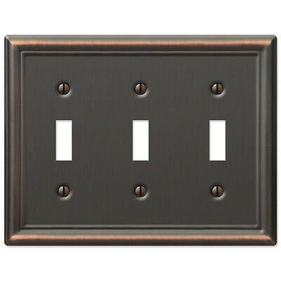 Chelsea Anitque Bronze Metal Switchplate Wall Plate Covers light switch outlet