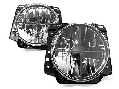 VW Golf 2 MK2 Set Crystal Clear Headlight Cross Hair Head Light Lamp GTI 83-92/