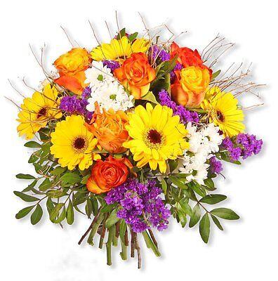 """Blumenversand Bunt Gemixter Blumenstrauß """"sunny Day"""" Pflanzen, Sämereien & Zwiebeln Blumensträuße"""