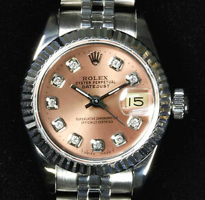 Rolex-Ladies-Pink-Diamond-Dial-Oyster-Perpetual-Datejust-w-Jubilee-Band-Mint-Cnd