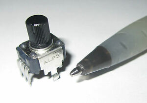 ALPS-10K-OHM-Linear-Taper-Pot-1B-RK09K-20V-DC-50V-AC-Mini-Miniature-ad