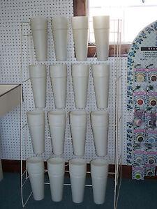 Store-Fixture-Standing-Flower-Rack-Metal-with-Plastic-Cones-Silk-Flower-Holder
