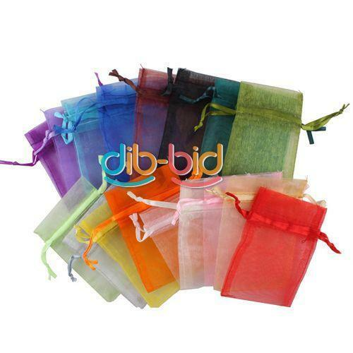 SA nEW 50PCS Organza Jewelry Wedding Gift Candy Pouch Bags 7x9cm