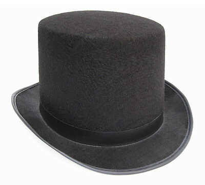 Slash SteamPUNK Victorian Top Hat Charles Dickens Topper Black