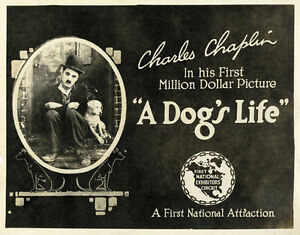 A Dog's Life (1918) Charlie Chaplin movie poster print 3 ...
