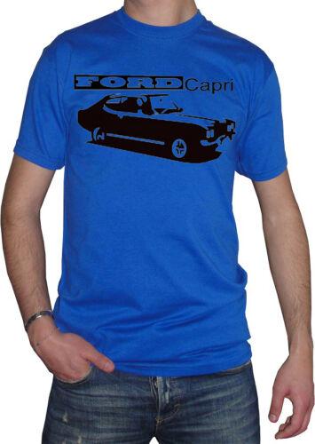 fm10 t-shirt uomo FORD CAPRI auto 1969-1986 vintage MITICHE
