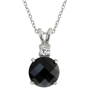 3-14-Ct-Round-Black-Onyx-and-White-Topaz-Sterling-Silver-Pendant-with-18-034-Chain
