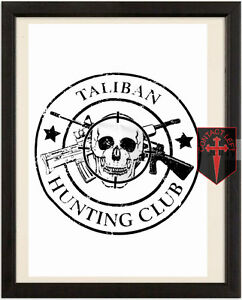 TALIBAN-HUNTING-CLUB-High-Quality-A4-Poster-Marines-Afghanistan-Para-Army