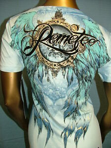 79-REMETEE-by-AFFLICTION-Tattoo-PERCH-Sexy-SINFUL-TOP-TEE-T-SHIRT-WOMENS-XL-NWT