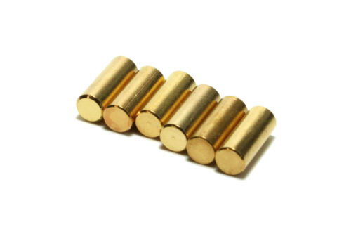 Humbucker Gold Plated Steel Pole Slugs for pickup makers set of 6