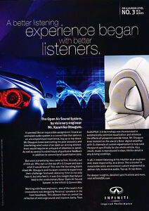 2009-Infiniti-Sound-System-Listeners-Classic-Vintage-Advertisement-Ad-D96