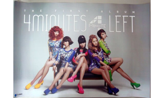 4MINUTE - 4Minutes Left (1st Album) OFFICIAL POSTER *HARD TUBE CASE*