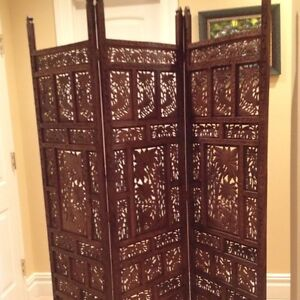 Room Divider Wood antique hand carved teak wood room divider screen | ebay