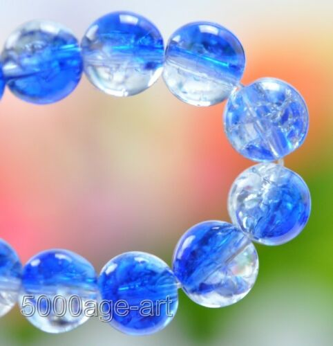50pcs 100pcs 8mm Crackle Glass Loose Round Spacer Beads Charms Jewelry bead