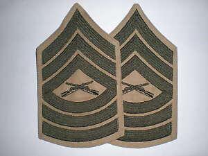 USMC-MASTER-SERGEANT-RANK-GREEN-KHAKI-1-PAIR