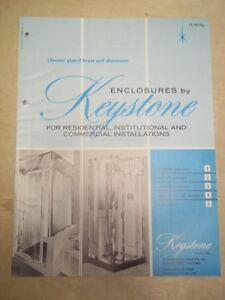 Vtg Keystone Shower Door Company Brochure~Enclosures/Bathroom ...