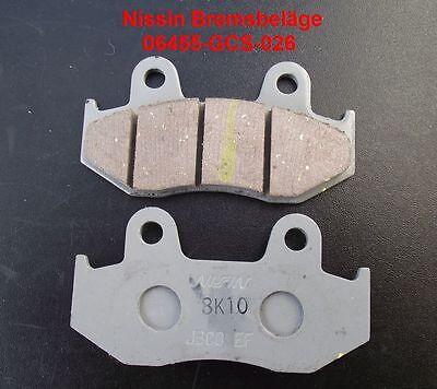 Nissin Roller Bremsbeläge Honda SES 125, SES125, Dylan, JF10, Bremsklötze Bremse