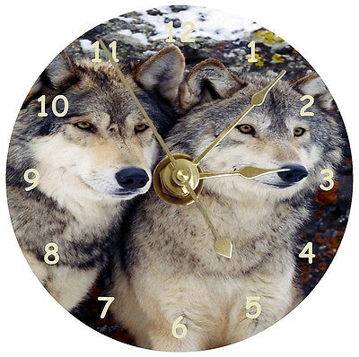 NEW Wolves CD Clock