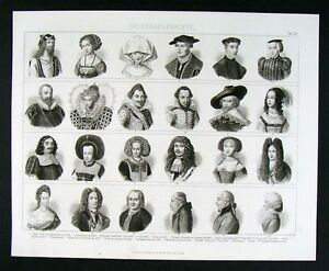 s haircut pictures 1874 print europe hats hairstyles fashion 1500 1800 ebay 1500