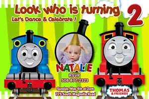 THOMAS THE TANK TRAIN ST BIRTHDAY PARTY INVITATION C CARDS - Birthday invitation card thomas and friends
