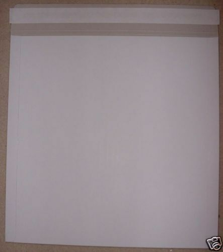 """10 x STRONG White 12""""/LP Quality Card Record Mailing Envelopes / Mailers 550mcn"""