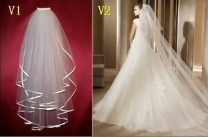 Two-Veils-Bridal-Veil-For-Wedding-Dress-Bridal-Gowns-Comb-Accessories-Stock-New