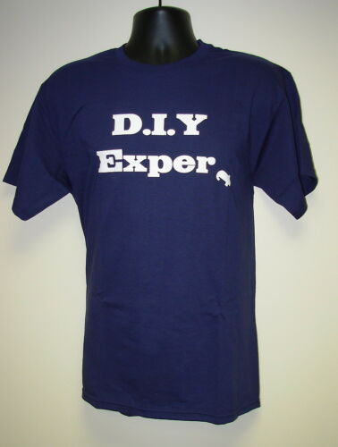 """Christmas Gift Him//Dad//Son Men/'s Slogan T-Shirt /""""DIY Expert/"""" Fathers Day Gift"""