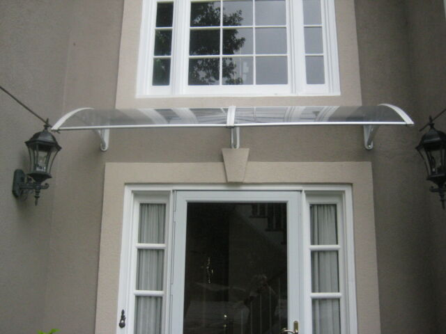 Door-Window Awning(100% Virgin Materials Polycarbonate Twin Wall-Clear)9ftx39in