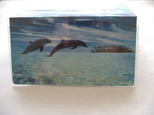 Two dophins traveling Vinyl Checkbook cover