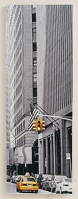 Wandbild Amerika Retro Motiv s/w Leinwand - Wohnaccessoire 30cm x 90cm