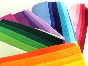 10-sheet-9-inch-23cm-blended-wool-felt-square-packs-colour-theme-choice