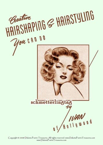 1940s Vintage Hair Accessories – 4 Authentic Styles    1940s Hairstyles Book Swing Era Illustrated Glamorous Hairstyle WWII Beautician $17.99 AT vintagedancer.com