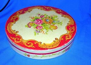 VTG-PAPER-MACHE-TOLE-HAND-PAINTED-MADE-JAPAN-LARGE-VALENTINE-HOLIDAY-CANDY-BOX