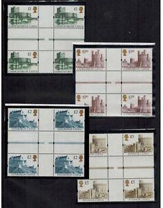 1992 CASTLE SETS CROSS GUTTER BLOCKS MNH STAMPS INTERPANNEAU SG1611-14