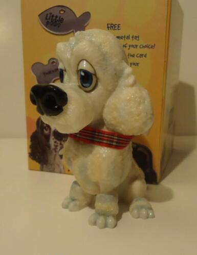 Little Paws Lady White Poodle Dog Resin Figurine Arora UK Bone Tag NIB