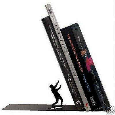 Falling Bookend The End Fred & Friends Artori Design Metal Book End Novelty Gift