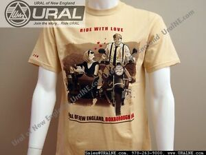 034-Ride-with-Love-034-034-I-LOVE-URAL-034-Cotton-Short-Sleeve-T-Shirt-S-3XL