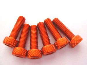 Anodised-bolt-Allen-head-orange-M-5-x-25-6-pieces