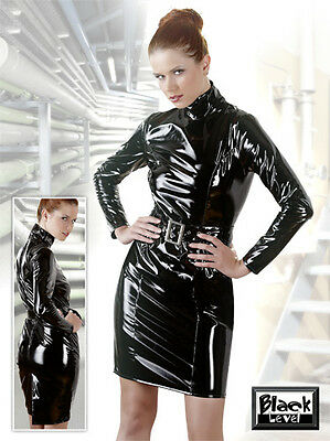Robe Vinyle Avec Manches Longues  Pvc Dress Long Sleeves Fetish Fetiche Fashion