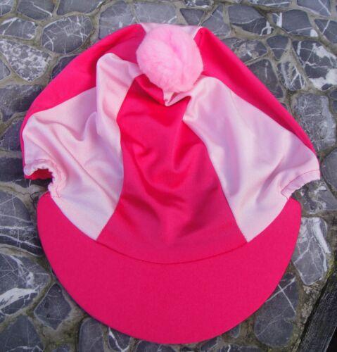 Équitation Chapeau soie tête Cap couverture chaud Cerise Rose /& Rose Bébé avec ou sans pompon