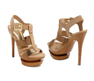 JESSICA-SIMPSON-CATHI-SEXY-BRONZE-GOLD-STRAPY-SANDALS-PLATFORM-HIGH-HEELS-SHOES