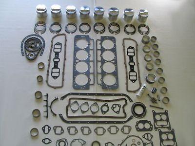 Basic Engine Rebuild Kit 63 64 65 66 Buick 425 V8 NEW Pistons Lifters Bearings
