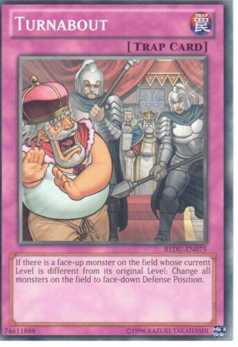 REDU-EN075 TURNABOUT YU-GI-OH CARD
