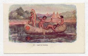 1904 INDIAN BOYS EMBOSSED TAMMEN DENVER POSTCARD PC1793