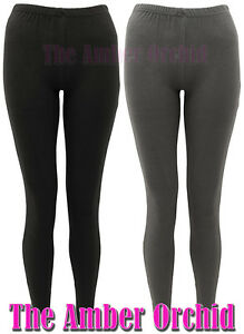 NEW-LADIES-FULL-LENGTH-PLAIN-STRETCH-LEGGINGS-WOMENS-CASUAL-PANTS-TROUSERS-8-14