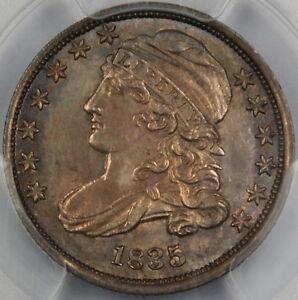 1835-Eliasberg-Capped-Bust-Silver-Dime-PCGS-MS-63-Toned-JR-1-Very-Choice-BU